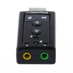 Placa de áudio externa USB - Adaptador de placa de som/áudio USB (NOVO)
