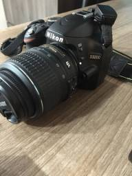 Câmera profissional Nikon D3200, lentes 18-55 e 55-200 + acessórios