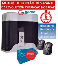 Motor Garen Dz Revolution Turbo para portão, com instalação