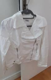 Casaco de sarja branco