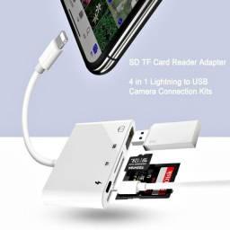 Adaptador_Iphone_SD, cartão, pendrive, micro sd_4 em 1