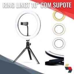 "Ring Light 10"" de mesa portátil usb"