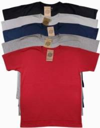 Camiseta Masculina Lisa Básica 100% Algodão