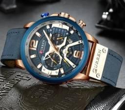 Relógio Curren Azul<br>Luxo