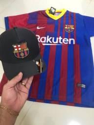 Kit Barcelona 1 camisa + boné