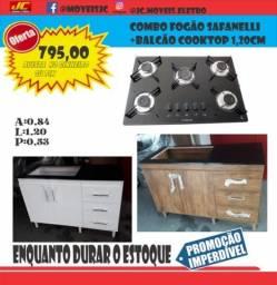 Título do anúncio: Fogão cooktop com balcaõ  1,20 3 gavetas promoção aproveite ac