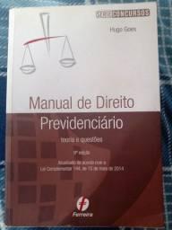 """Título do anúncio: Livro """" Manual de Direito Previdenciário 8° edição"""" - Hugo Goes"""