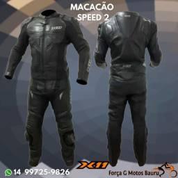 Título do anúncio: Macacão X11 Speed 2 Couro Legítimo em 10x s/juros loja física