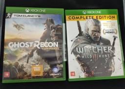 Games Xbox one.  Ghost Recon wildland e The Whicher 3 edição completa