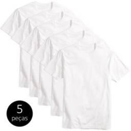 Kit 5 camisetas Branca para sublimação