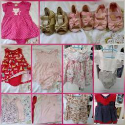 Lote roupas calçados  menina