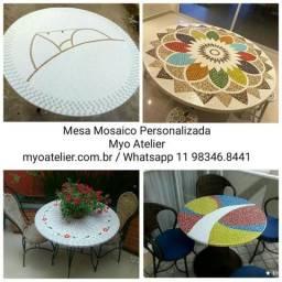 Moveis, mesa, varanda gourmet, mosaico, cadeiras
