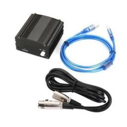 Phantom power para microfones condensador