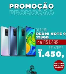 Smartphone Xiaomi Redmi Note 9 128Gb lacrado a pronta entrega (Ac. Cartão)