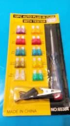 Kit com 10 fusíveis + teste R$ 6,00