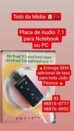 Placa de Áudio 7.1