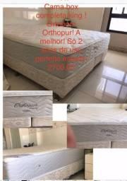 Cama box completa king size ! Ortobom Orthopur