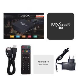 Transforme sua TV em Smart MXQ Pro 4K DDR4/64G WI-FI 2.4G/5GHz Android 10.1