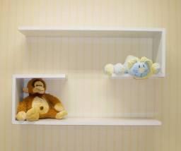 Kit com 2 prateleira para quarto de bebê