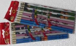 Lápis com Borracha 10 Unidades