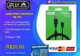 Cabo carregador para controle PS3, PS4 e Xbox One