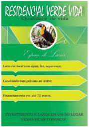 Loteamento Verde Vida - Lotes a partir de 249,00 mensais
