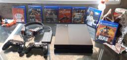PS4 Fat 500 GB + HD de 500 GB.