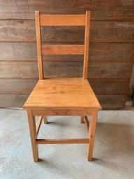Cadeira modelo 2 reguas - madeira angelim pedra