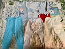 Lote de body e calças menino