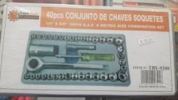 Jogo De Chaves Catraca 40 peças