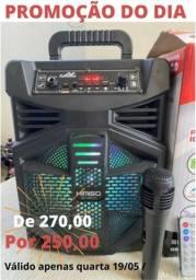 PROMOÇÃO IMPERDÍVEL! Caixa de Som Kimiso 5801B com 1000 W de potência!