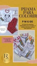 Pijama para colorir