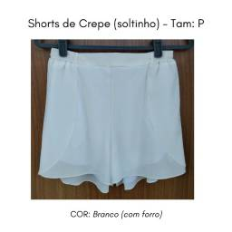 Short Crepe Branco (soltinho)