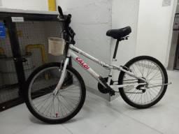 Bicicleta Caloi Feminina 21V aro 24