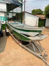 Título do anúncio: Canoas 5/6 metros com motor 15