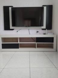 Rack completo com painel e suporte para TV