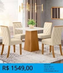 Mesa de 4 cadeiras para jantar