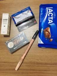 Buquê de maquiagem com chocolate