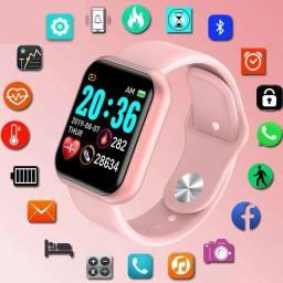 Título do anúncio: Smartwatch y68 novo coloca foto na tela