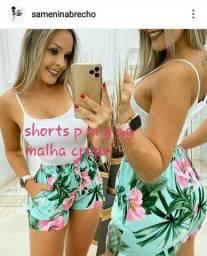 Short Malha Crepe M LEIA O ANÚNCIO