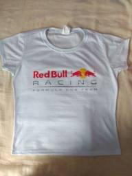 Camisa Baby Look Personalizada Red Bull Racing Formula One Team