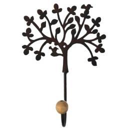 Cabide de parede de ferro em formato de árvore da vida artesanato rústico