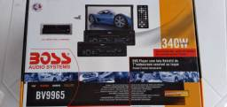"DVD Player BOSS com tela de 7"" retrátil touch screen"