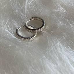 argolinhas prata 925