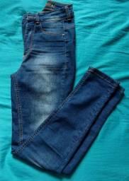 Calça cintura alta blue steel