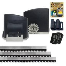 Kit Motor Portão Eletrônica Dz 1/4 GAREN KDZ FIT + 3m Cremalheira