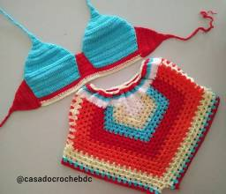 Conjunto de Crochê - Short + Top