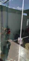 Porta de Vidro Verde Temperado 1,90x2,10
