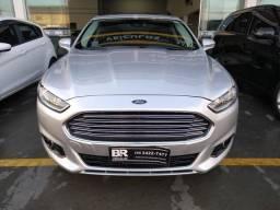Ford Fusion Titanium 2.0 gasolina 2014 prata com teto solar - 2014