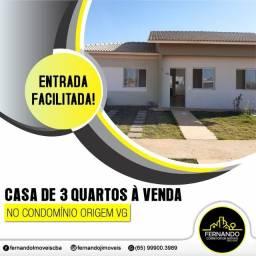 Condomínio Origem VG Casa com 03 quartos e com terreno de 203 m²